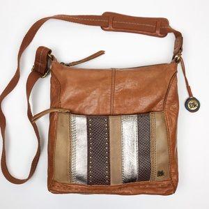 The Sak Iris Metallic Leather Crossbody Bag Stud